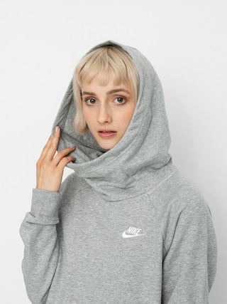 Bluza z kapturem Nike Sportswear Essential HD Wmn (grey heather/white)