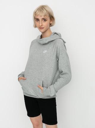 Bluza z kapturem Nike Sportswear Essential HD Wmn (grey heather/white)
