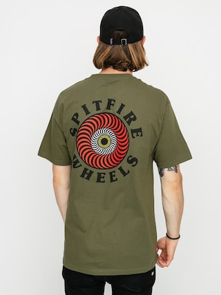 T-shirt Spitfire Og Clsc Fl (military green/red)