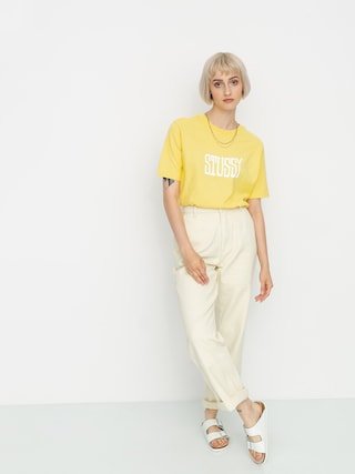 T-shirt Stussy Og Stussy Wmn (yellow)