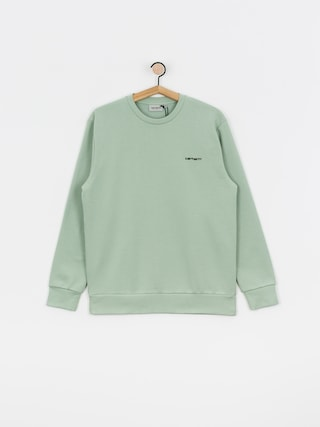 Bluza Carhartt WIP Script Embroidery (frosted green/black)