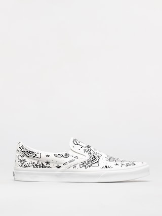 Buty Vans Classic Slip On (u color tattoo/true white)