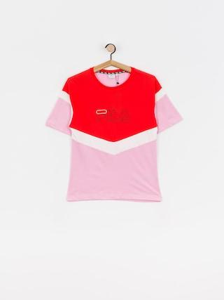 T-shirt Fila Laeta Wmn (lilac sachet/poppy red/bright white)