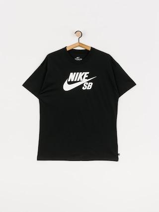 T-shirt Nike SB Logo (black/white)