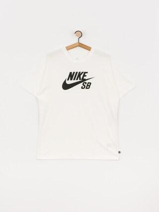 T-shirt Nike SB Logo (white/black)