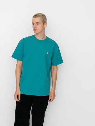 T-shirt Carhartt WIP Chase (frosted turquoise/gold)