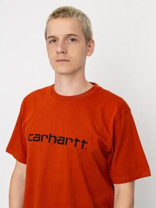 T-shirt Carhartt WIP Script (cinnamon/black)