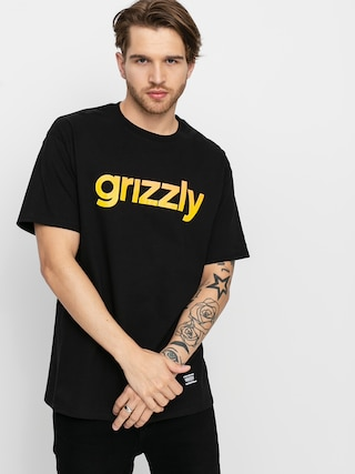 T-shirt Grizzly Griptape X Champion Lowercase Fadeaway (black)