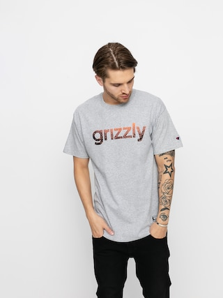 T-shirt Grizzly Griptape X Champion Lowercase Fadeaway (grey heather)