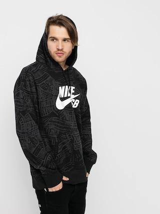Bluza z kapturem Nike SB Aop HD (black/black/white)