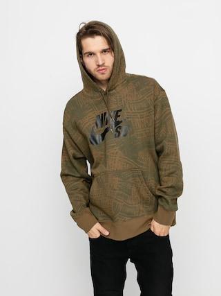 Bluza z kapturem Nike SB Aop HD (cargo khaki/cargo khaki/black)