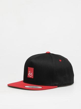 Czapka z daszkiem eS Main Block Snapback ZD (black/red)