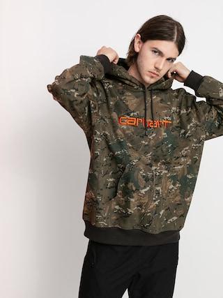 Bluza z kapturem Carhartt WIP Carhartt HD (camo combi/safety orange)