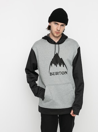 Bluza aktywna Burton Oak HD (gray heather/true black)