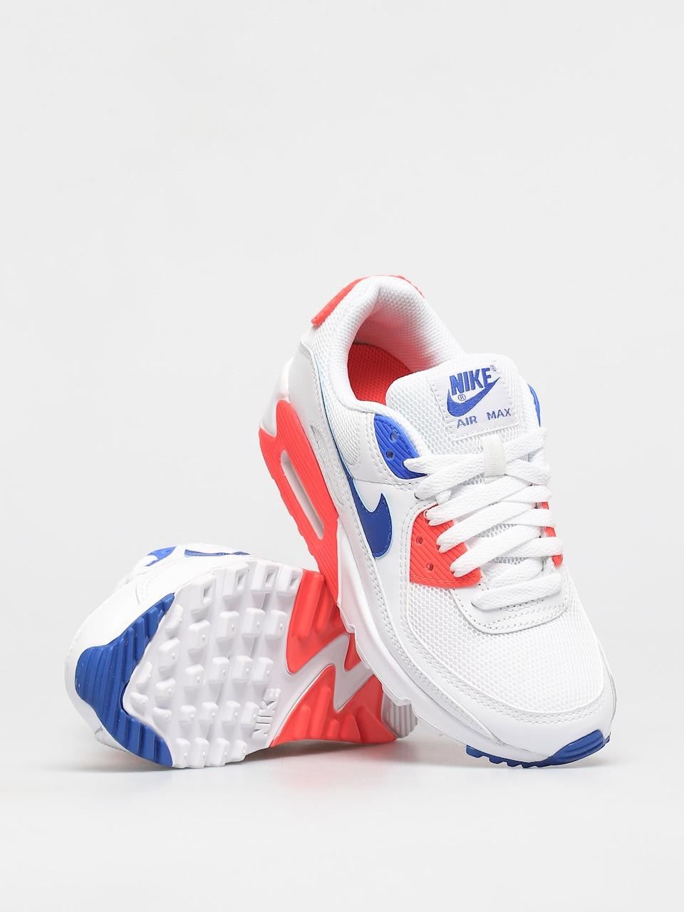 Buty Nike Air Max 90 Wmn White Racer Blue Flash Crimson