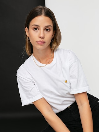 T-shirt Carhartt WIP Chase Wmn (white/gold)