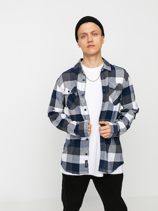 Koszula Vans Box Flannel (white/dress blues)