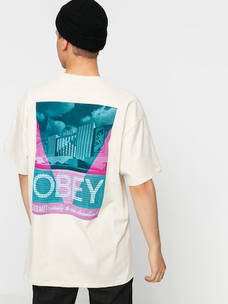T-shirt OBEY Obey Conformity Standards (cream)
