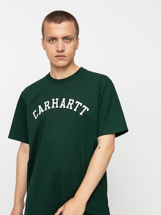 T-shirt Carhartt WIP University (bottle green/white)