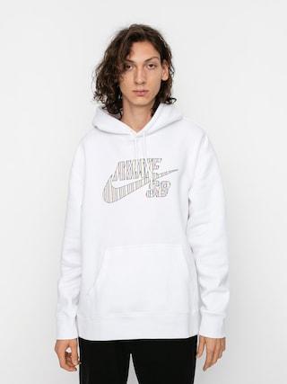 Bluza z kapturem Nike SB Stripes HD (white)