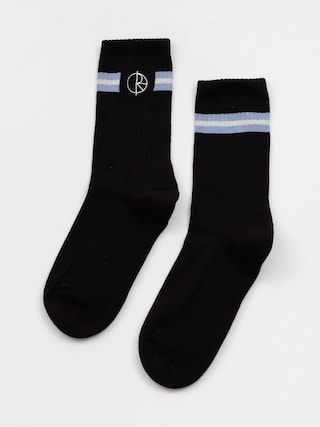 Skarpetki Polar Skate Stroke Logo (black/dusty blue/white)