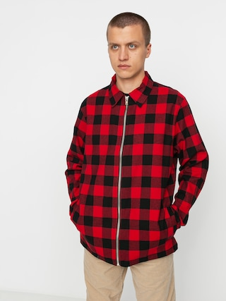 Koszula The Hive Flannel Overshirt Zip (black/red)