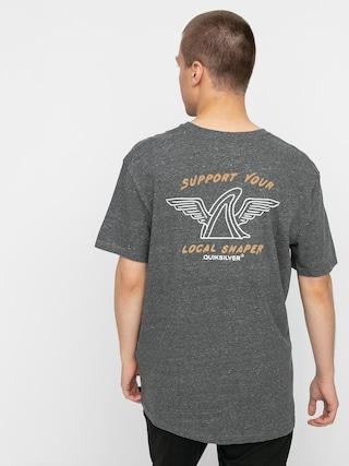 T-shirt Quiksilver Quik Local Shaper (charcoal heather)