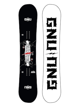 Deska snowboardowa Gnu Riders Choice (white/black)