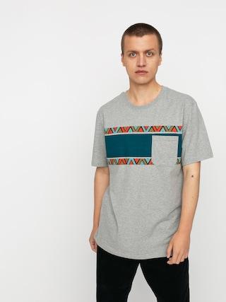 T-shirt Iriedaily Monte Noe Pocket (grey mel)