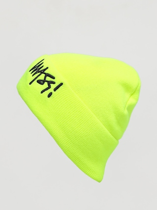 Czapka zimowa MassDnm Signature (toxic yellow)