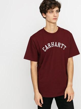 T-shirt Carhartt WIP University (bordeaux/white)