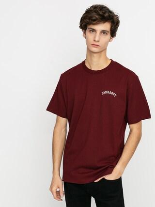 T-shirt Carhartt WIP University Script (bordeaux/white)