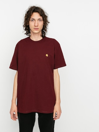 T-shirt Carhartt WIP Chase (bordeaux/gold)