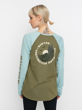Longsleeve aktywny Burton Roadie Base Layer Tech Wmn (martini olive/ether blue)