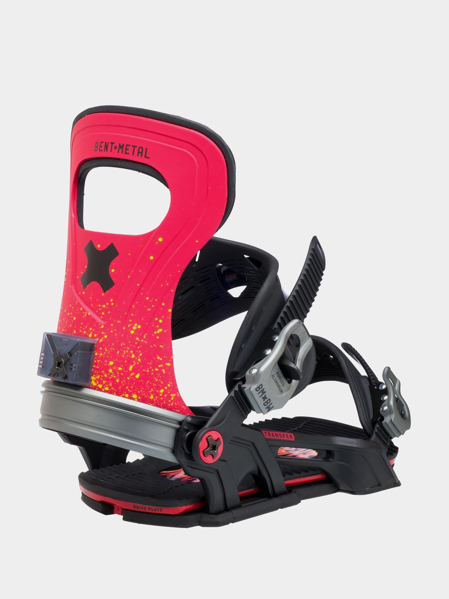 Wiu0105zania snowboardowe Bent Metal Transfer (red)