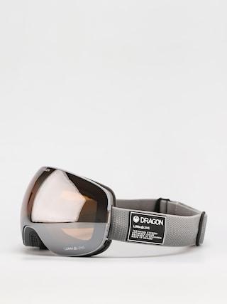 Gogle Dragon X2 (titanium/ll silver ion/ll dark smoke)