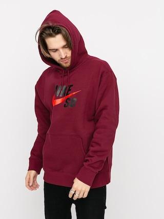 Bluza z kapturem Nike SB Icon HD (dark beetroot/chile red)