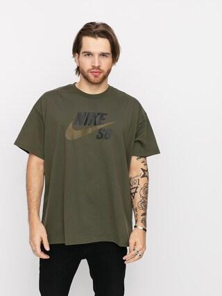T-shirt Nike SB Logo (cargo khaki/yukon brown)