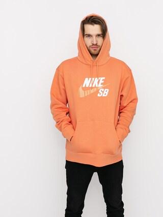 Bluza z kapturem Nike SB Icon HD (healing orange/amber brown)