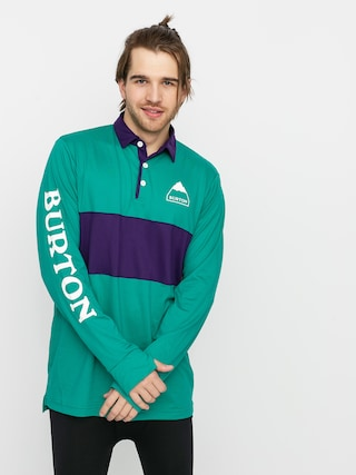 Longsleeve aktywny Burton Midweight Rugby (dynasty green/parachute purple)
