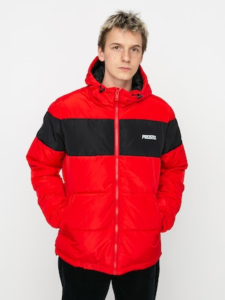 Kurtka Prosto Winter Adament (red/black)