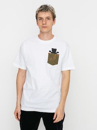 T-shirt Grizzly Griptape Foliage Pocket Bear (white)