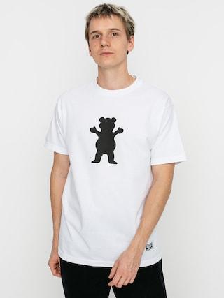 T-shirt Grizzly Griptape OG Bear (white/black)