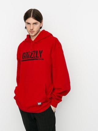 Bluza z kapturem Grizzly Griptape OG Stamp HD (red/black)