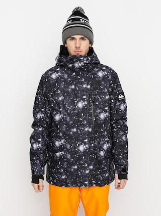 Kurtka snowboardowa Quiksilver Mission Printed (true black woolflakes)