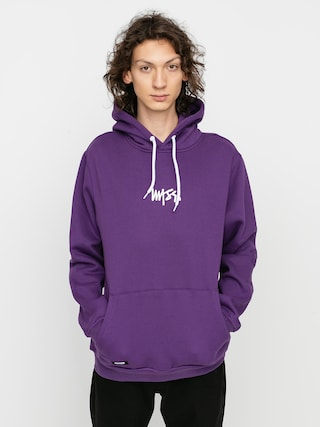 Bluza z kapturem MassDnm Signature Small Logo HD (purple)
