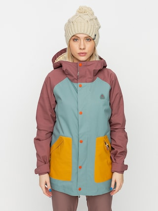 Kurtka snowboardowa Burton Eastfall Wmn (rose brown/trellis/harvest gold)