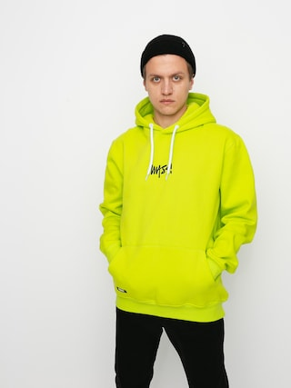 Bluza z kapturem MassDnm Signature Small Logo HD (toxic yellow)