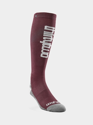 Skarpety ThirtyTwo Double Wmn (burgundy)