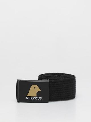 Pasek Nervous Gold Head (black/black)